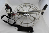 FREE SHIPPING!36cm Kite Wheel High Quality stainless steel,with strap and brake