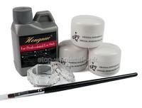 New Acrylic Liquid Powder Pen Brush Deppen dish For Nail Art kit Set C434