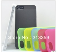 Free shipping for 0.2 MM of ultra-thin Frosted mobile phone case For iPhone 5 5G also for Iphone 5