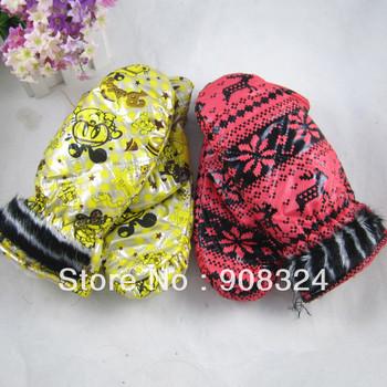free shipping children ski glove winter waterproof slip-resistant windproof thermal bag yarn leather for girl boy