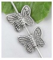 Free Ship 2000Pcs Tibetan Silver butterfly Spacer Beads 10.5x9mm