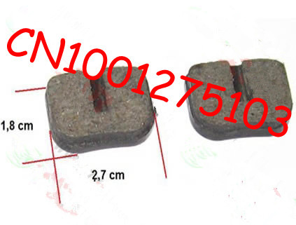 Free shipping mini dirt bike bradk pad , mini bike brake pad wholesale, can be used for 43ccc, 47cc 49cc pocket bike , scooter(China (Mainland))