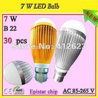 B22 bayonet cap riparmio energetico lampadine_7W BC base led globe bulb lamp free shipping