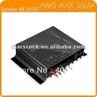 10A 12V/24V, IP68 Waterproof PWM LED Solar Charge Controller ,aluminum housing, anti-corrosion, External temperature sensor