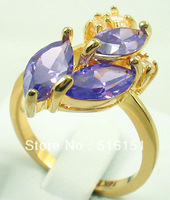 Free Shipping Wholesale and Retail Exquisite Alexandrite Ring in 14 Kt Yellow Gilding #8