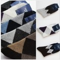 10Pcs/Lot Free Shipping Wholesales Korea Thicker Winter Warm Classic Argyle Plaid Socks Wool Socks Chirstmas Gife FC12104