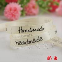 Free shipping handmade fashion ribbon 9mm printed white ribbon trimming 100 yards / roll wholesale