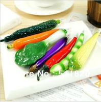 free shipping hot sale ABS fruit,vegetables shape simulation ballpoint pen,cute promotional simulation fridge magnet ball pen