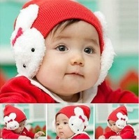 Hat autumn and winter knitted hat baby hat child ear protector cap clothes 10pcs/ctn