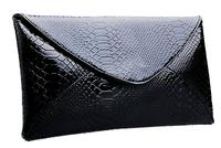 Free shipping 2012 fashion patent leather envelop clutch bag women's handbag evening clutches banquet bag