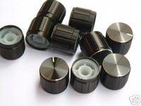 2pc 19x17mm BLACK FOR BOSS PEDAL HI FI SHINY ALLOY KNOB