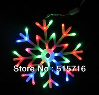 Free shipping 1pc Colorful LED Light 7 Color Snow Light Christmas Light  40 LEDs