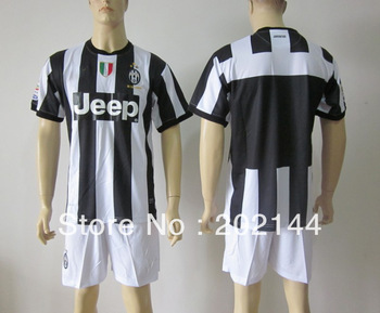 Factory price! 12/13 Juventus home white thai quality soccer football jersey+shorts kits,size:S/M/L/XL