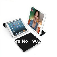 Wholesale 10pcs/lot For iPad mini smart cover with the function of sleep and wake up free shipping via DHL