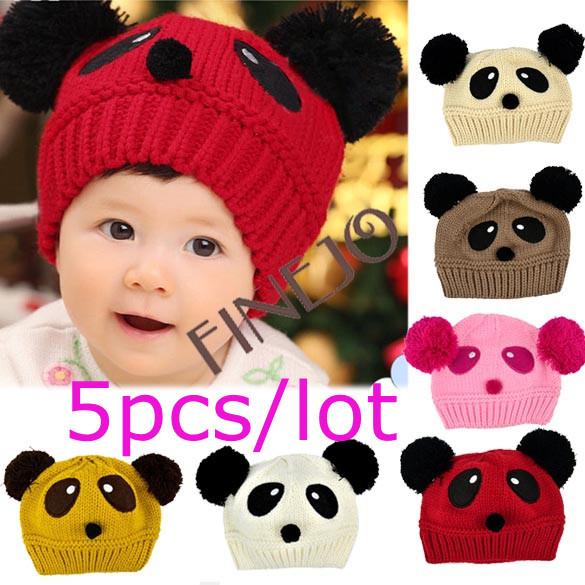 5pcs lot free shipping cute panda pattern baby love dual ball toddler