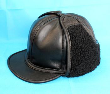 Sheepskin genuine leather hat long winter hat men's truck cap quinquagenarian winter cotton cap thermal cap