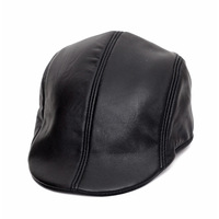 Genuine leather hat sheepskin hat male hat men's threadbare cap autumn and winter fur hat beret