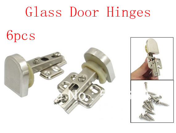"6 Pcs 1.2"" Beige Cup 90 degree Angle Concealed Glass Door Hinge(China (Mainland))"