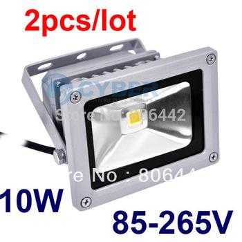 2Pcs/Lot 10W 85-265V High Power Flash Landscape Lighting LED Wash Flood Light Floodlight Outdoor Lamp Retail & Wholesale 871 872