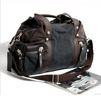 2013 Brand men fashion handbag/canvas Korean-Japanese  style shoulder handbag/vintage large capacity travel bag/free shipping