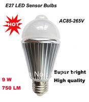 9W 750LM  white Motion PIR Sensor LED Bulbs lamp E27 Lobby Toilet Stair lighting LED Bulbs&tubes