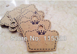 Free Shipping, Wholesale 200pcs/lot Brown Paper Custom Jewelry/Earring Packaging Display Cards(China (Mainland))