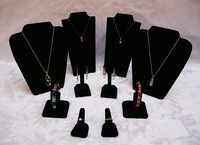 Black velvet  cheap jewlery display silver jewelry stands kit for 2013 show
