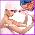 Microfiber Magic Hair Dry Drying Turban Wrap Towel/Hat/Cap Quick Dry Dryer Bath[99710](China (Mainland))