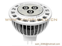 NEW! 20pcs/lot fins cooling mr16 3W LED spot light, 300~330LM led lamp, 160cm*2 radiating area spotlight.