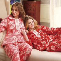 Free Shipping   autumn and winter women's coral fleece sleep set lounge z3426