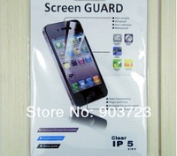 DHL Free High Quality with Retail Package Clear 1000pcs Front+1000pcs Back Full Screen Protector for Apple iPhone 5 5G