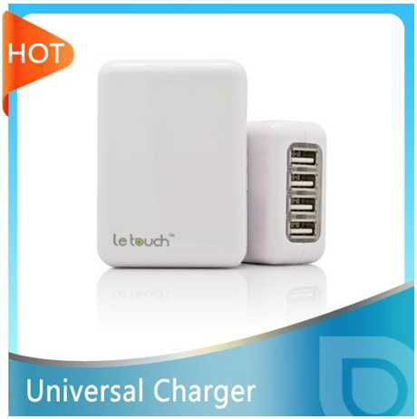 New Universal AC adapter battery charger with 4USB for smart phone/iPhone/iPad, mp4,camera ect(China (Mainland))