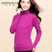 2012 turtleneck sweater female slim thermal basic shirt
