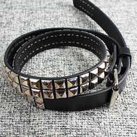 2013 FASHION WILLIAM BIG RIVET LEATHER STRAP MEN BELT FREE SHIPPING
