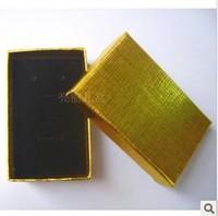 Newest  Fashion  Cufflinks Box ! Wholesale 12pcs/Lot Gold Jewelry Box Necklace/Earrings/Ring Box Gift Box Free Shipping