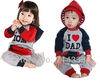 2012 New I Love MOM & DAD Baby Girls Boys Romper/Bodysuit/One piece/Jumpsuit, baby clothing, baby outfits retail/free shipping