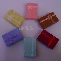 Free shipping wholesale 50mmx80mmx25mmm mixed color(5color) with Bowknot Paper Box For Gift Best For Gift 24pcs/lot