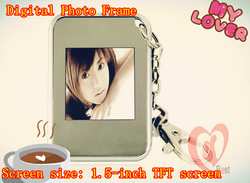 free shipping Wholesale 1.5 inch LCD Mini Digital Photo/Picture Frame Viewer with Keychain 16MB 2pcs/lot(China (Mainland))