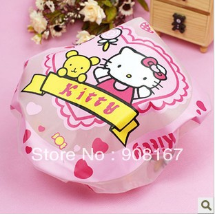 Super cute high curative value clearly practical cartoon bath cap/environmental protection bath cap pattern randomly