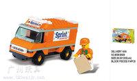 Building Block Set model,3D Block Assembled educational toys,SlubanB500,Free Shipping