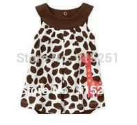 hot 100 % cotton baby  Girls Dress Romper, carter girls giraffa/cat jumpsuit, one piece sunsuit, freeshipping