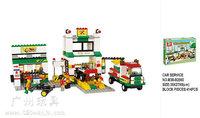 Building Block Set SLuBanM38-B2500 Simulation city/car repair station 415PCS,3D Block  Model,Educational