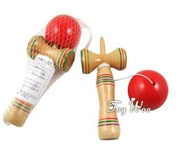 18cm length kendama cup-and-ball game kendama 20pcs japanese toy wooden toy Christmas gift