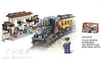 Building Block Set SLuBanM38-B0235 Century railway station/polar pioneers 302PCS,3D Block Model,Educational