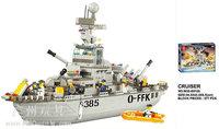 Building Block Set SLuBanM38-B0126 The navy's fleet/cruiser 578PCS,3D Block Model,Educational