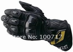 New RS-TAICHI RST047 Leather gloves Motorcycle gloves Racing gloves long model Black yutkm(China (Mainland))