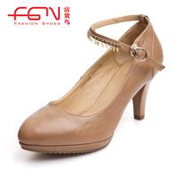 FUGUINIAO new arrival small platform women's shoes sheepskin women's single shoes h207160k