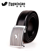 FUGUINIAO fgn 2012 strap cowhide belt genuine leather male commercial smooth buckle belt 921
