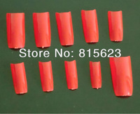 500Pcs Fashion Red  French Acrylic Artificial Half False Nail Art Tips