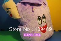 "Free Shipping EMS 100/Lot Dora the Explorer Plush Backpack Child PRE School Bag Toddler Size 15"" Wholesale Christmas Gift"